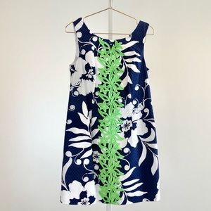 Lilly Pulitzer Delia Shift Dress in Johnny B Navy
